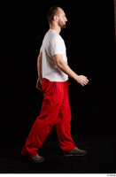 Orest  1 dressed grey shoes jogging suit red panties side view walking white t shirt whole body 0005.jpg