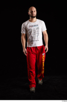 Orest  1 dressed front view grey shoes jogging suit red panties walking white t shirt whole body 0002.jpg