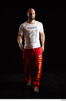 Orest  1 dressed front view grey shoes jogging suit red panties walking white t shirt whole body 0005.jpg
