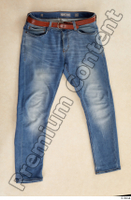 Clothes  214 blue jeans brown belt casual clothing 0001.jpg