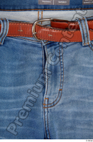 Clothes  214 blue jeans brown belt casual clothing 0003.jpg