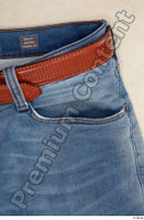 Clothes  214 blue jeans brown belt casual clothing 0004.jpg