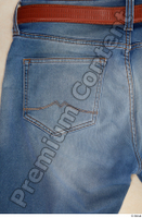 Clothes  214 blue jeans brown belt casual clothing 0005.jpg