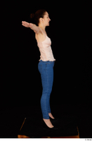 Rania black high heels blue jeans casual dressed pink top standing t poses whole body 0007.jpg