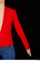 Rania arm casual dressed pink top red jacket upper body 0002.jpg