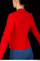 Rania casual dressed pink top red jacket upper body 0004.jpg