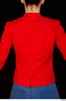 Rania casual dressed pink top red jacket upper body 0005.jpg