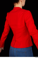 Rania casual dressed pink top red jacket upper body 0006.jpg