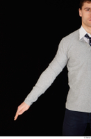 Tomas Salek arm business clothing dressed grey sweater tie upper body white t shirt 0001.jpg