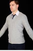 Tomas Salek business clothing dressed grey sweater tie upper body white t shirt 0002.jpg