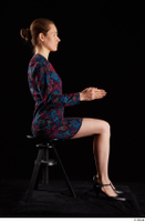 Violet  1 black shoes clothing dress dressed sitting whole body 0013.jpg