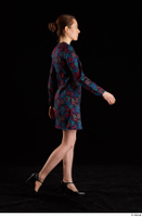 Violet  1 black shoes clothing dress dressed side view walking whole body 0005.jpg