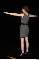 Violet black high heels business clothing dressed grey dress standing t-pose whole body 0004.jpg