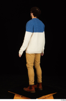 Pablo brown shoes brown trousers dressed standing sweater whole body 0004.jpg