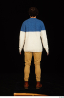Pablo brown shoes brown trousers dressed standing sweater whole body 0005.jpg
