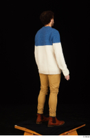 Pablo brown shoes brown trousers dressed standing sweater whole body 0006.jpg