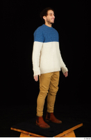 Pablo brown shoes brown trousers dressed standing sweater whole body 0008.jpg