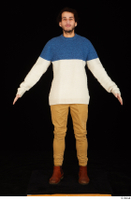 Pablo brown shoes brown trousers dressed standing sweater whole body 0009.jpg