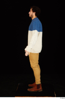 Pablo brown shoes brown trousers dressed standing sweater whole body 0011.jpg