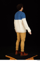 Pablo brown shoes brown trousers dressed standing sweater whole body 0014.jpg