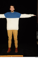 Pablo brown shoes brown trousers dressed standing sweater t-pose whole body 0001.jpg