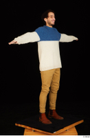 Pablo brown shoes brown trousers dressed standing sweater t-pose whole body 0008.jpg