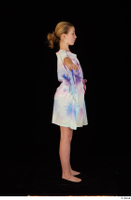 Sarah black shoes dressed standing summer dress t-pose whole body 0004.jpg