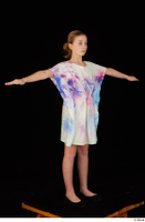 Sarah black shoes dressed standing summer dress t-pose whole body 0005.jpg