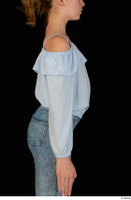 Sarah arm blue blouse dressed upper body 0006.jpg