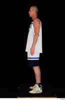 Joseph dressed sports standing white shorts white sneakers white tank top whole body 0003.jpg
