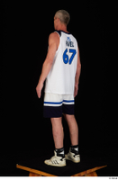 Joseph dressed sports standing white shorts white sneakers white tank top whole body 0004.jpg