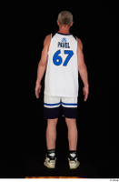 Joseph dressed sports standing white shorts white sneakers white tank top whole body 0005.jpg