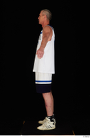 Joseph dressed sports standing white shorts white sneakers white tank top whole body 0011.jpg