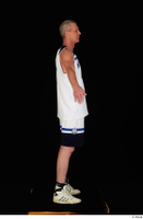 Joseph dressed sports standing white shorts white sneakers white tank top whole body 0015.jpg