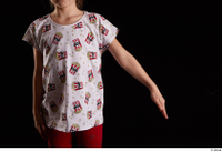 Lilly  1 arm dressed flexing front view t shirt 0002.jpg