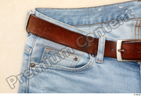 Clothes  222 blue jeans brown belt casual 0003.jpg