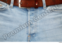 Clothes  222 blue jeans brown belt casual 0004.jpg