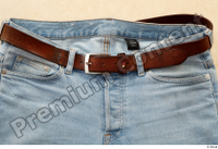 Clothes  222 blue jeans brown belt casual 0005.jpg