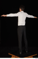 Jamie black shoes black trousers bow tie dressed standing t-pose uniform waiter uniform white shirt whole body 0004.jpg