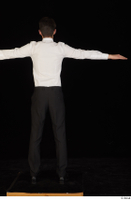 Jamie black shoes black trousers bow tie dressed standing t-pose uniform waiter uniform white shirt whole body 0005.jpg