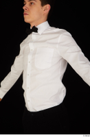 Jamie bow tie dressed uniform upper body waiter uniform white shirt 0002.jpg