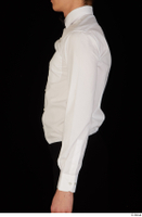 Jamie arm bow tie dressed uniform upper body waiter uniform white shirt 0003.jpg