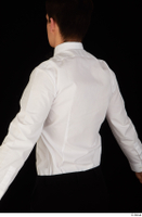 Jamie bow tie dressed uniform upper body waiter uniform white shirt 0004.jpg