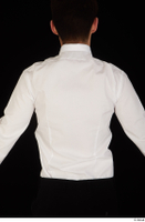 Jamie bow tie dressed uniform upper body waiter uniform white shirt 0005.jpg