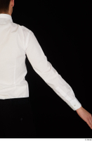 Jamie arm bow tie dressed uniform upper body waiter uniform white shirt 0005.jpg