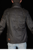 Jamie black leather jacket dressed upper body 0005.jpg