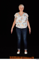 Carly blossom top dressed jeans standing white shoes whole body 0001.jpg