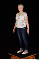 Carly blossom top dressed jeans standing white shoes whole body 0002.jpg