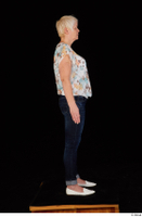 Carly blossom top dressed jeans standing white shoes whole body 0007.jpg