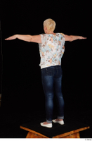 Carly blossom top dressed jeans standing t-pose white shoes whole body 0004.jpg